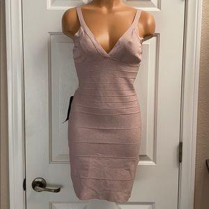 Bebe metallic pink dress NWT M